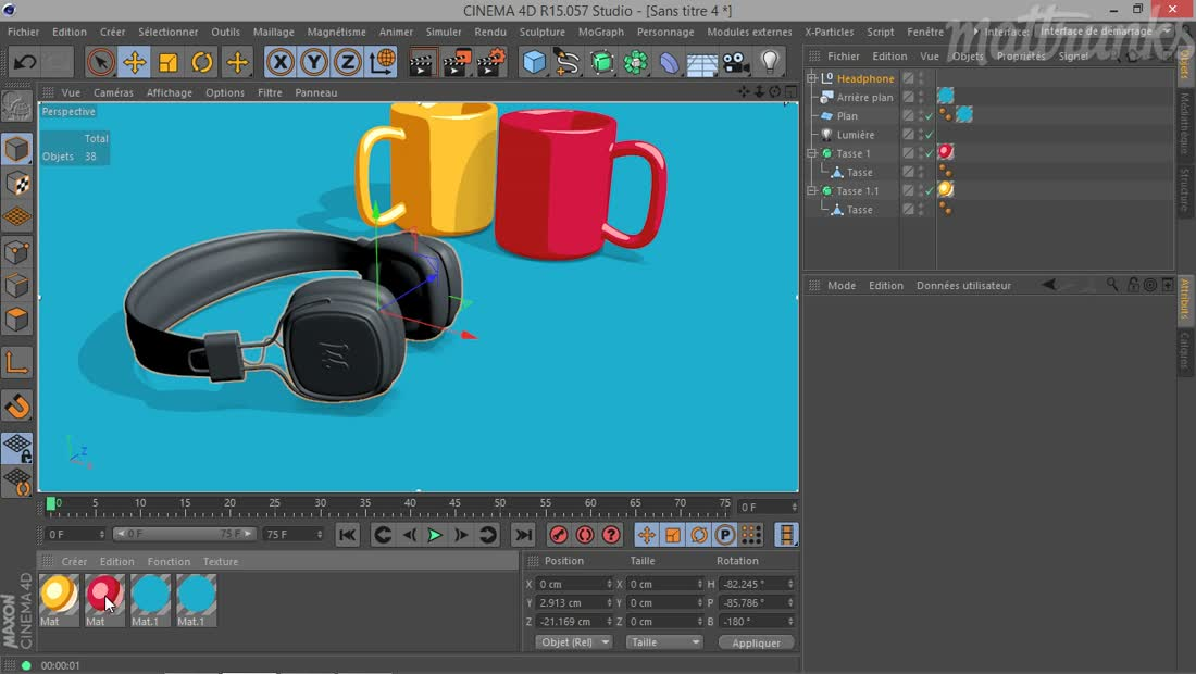Create an illustrative 2D cel-shading render from 3D objects